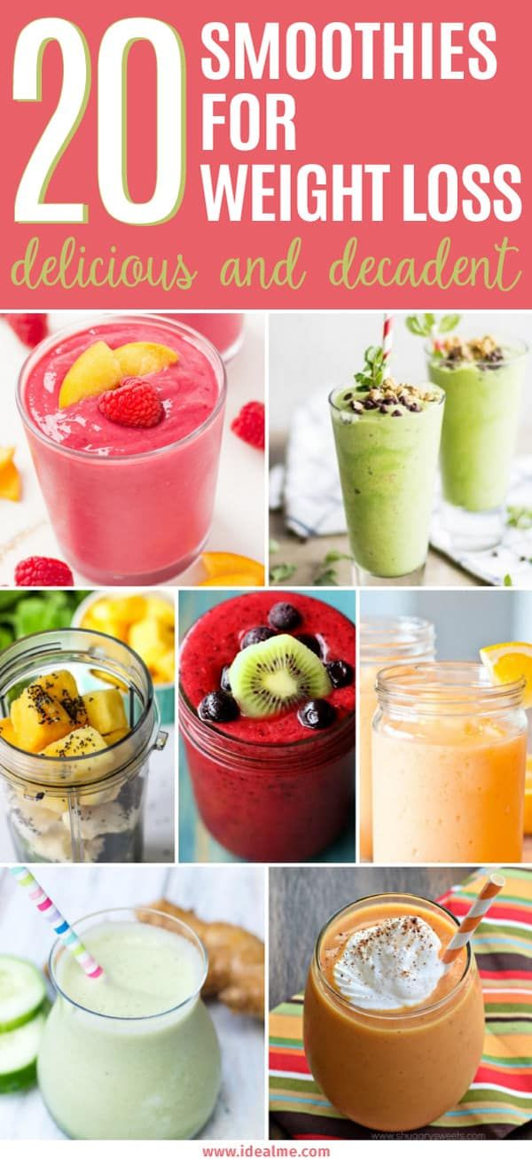 20 Delicious and Healthy Smoothies For Weight Loss images
