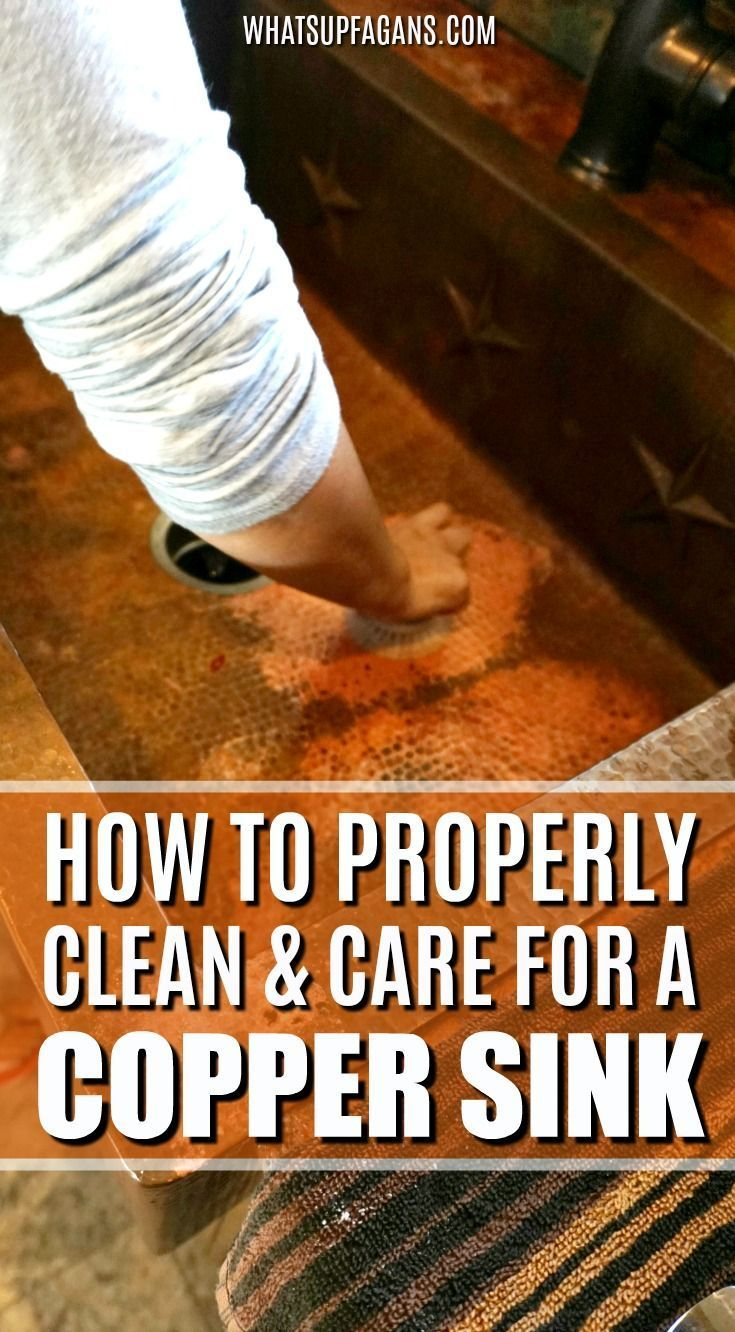 How to care for and clean a copper sink so itll last