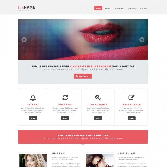 Free Responsive Bootstrap HTML5 Webdesign Template | #free ...