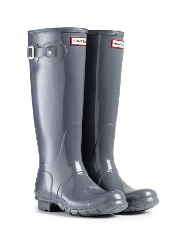 Hunter Rain Boots Grey | eBay