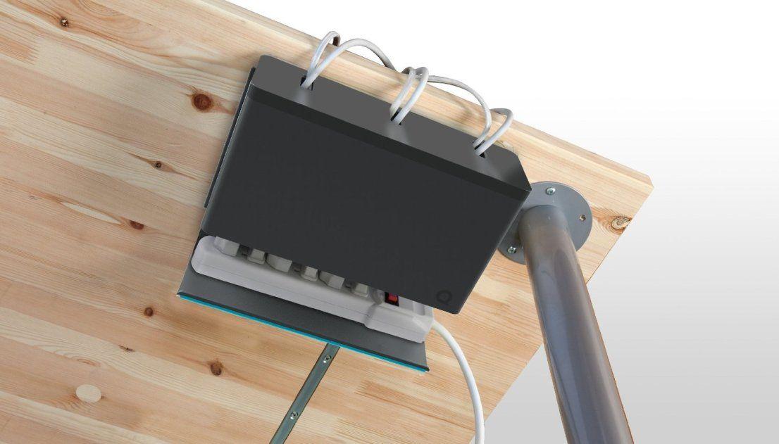 Quirky Plug Hub Ocultar cables, Organizador de cables