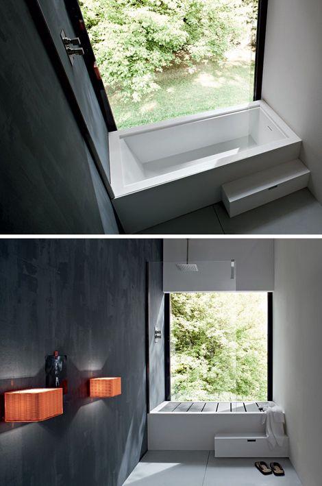ducha o bañera ESPACIOS en ARQUITECTURA ARRL Pinterest Bañera - Baos Modernos Con Ducha Y Baera