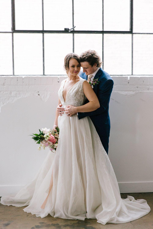 Wedding dress centerpiece  Organic wedding modern wedding spring wedding farm table floral