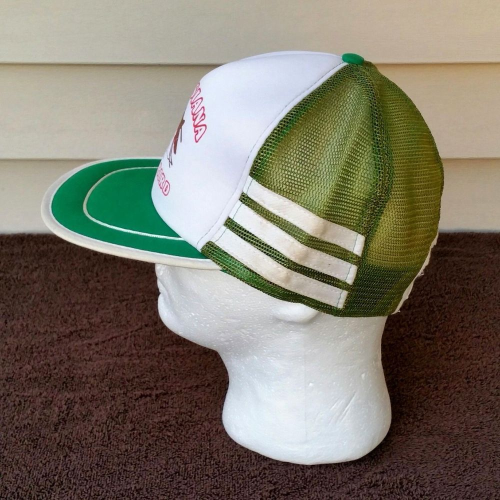 46e89dd0d6b Vintage 80s 3 Stripe Snapback Hat Foam Mesh Trucker Louisiana Humor Funny   fashion  clothing  shoes  accessories  mensaccessories  hats (ebay link)
