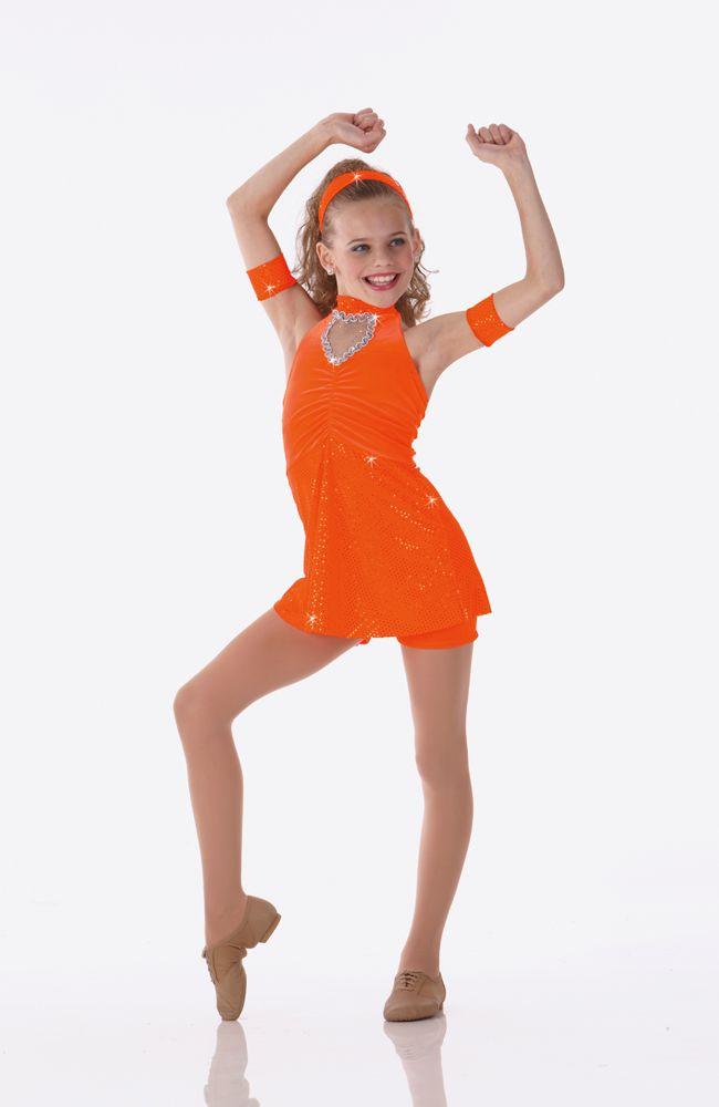 66dfc64c8 Teachers Dancing Crazy Orange Shorts Top Halloween Dance Costume Size  Choice | eBay