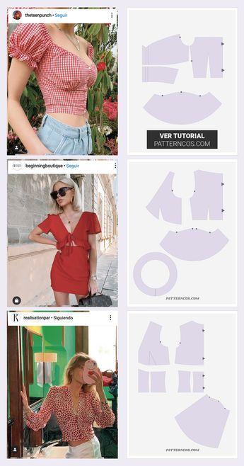 Haciendo el patrón 3 tops veraniegos vistos en Instagram