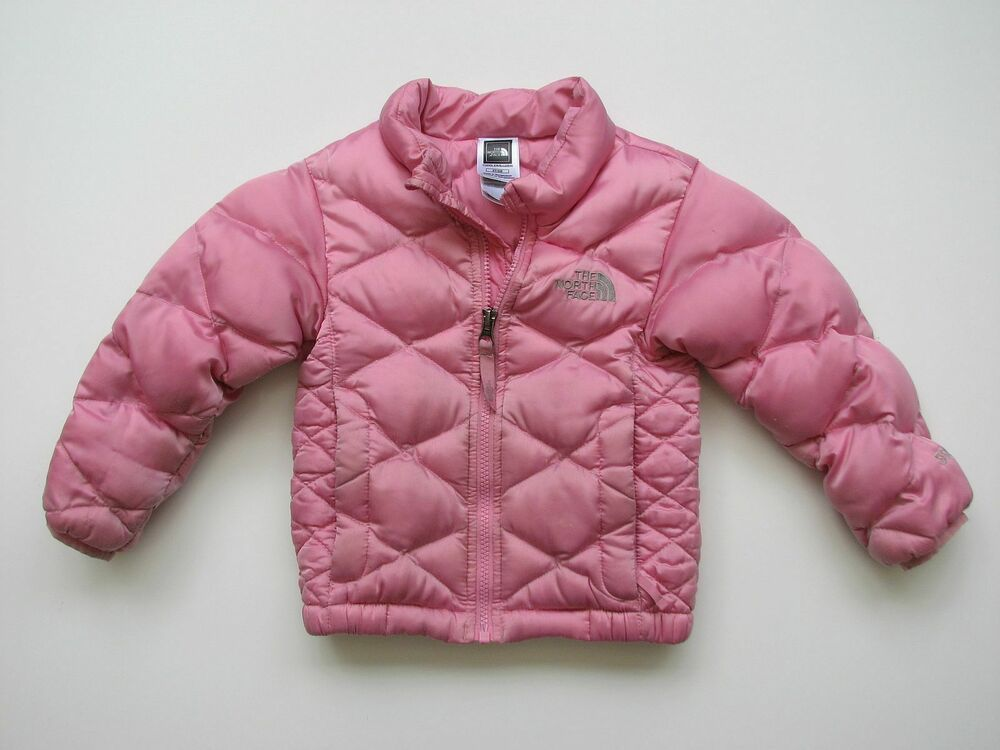 48e68af0c The NORTH FACE GIRLS 3T PINK 550 DOWN ACONCAQUA PUFFER JACKET ATDG ...