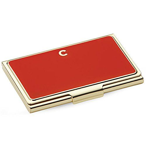 kate spade new york initial business card holders c red
