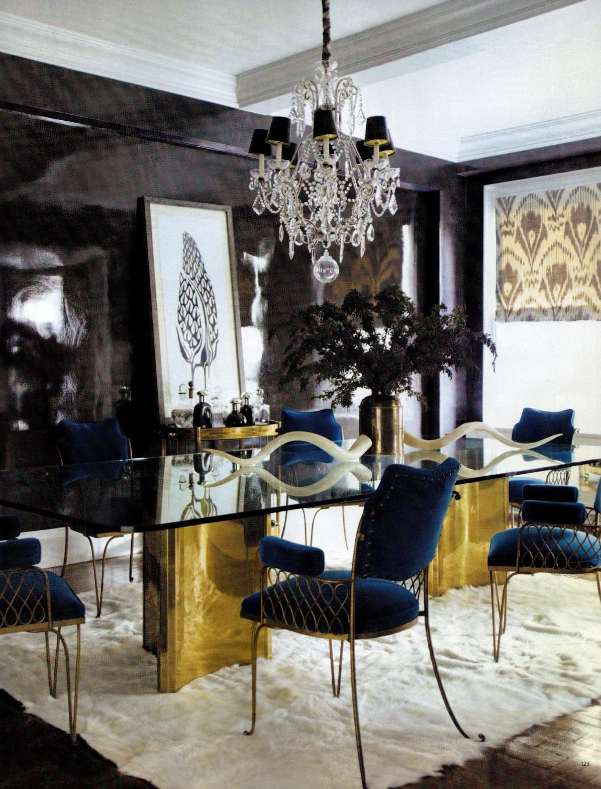 how to make a large blank wall way more interesting hollywood room lacquered wall with gold and