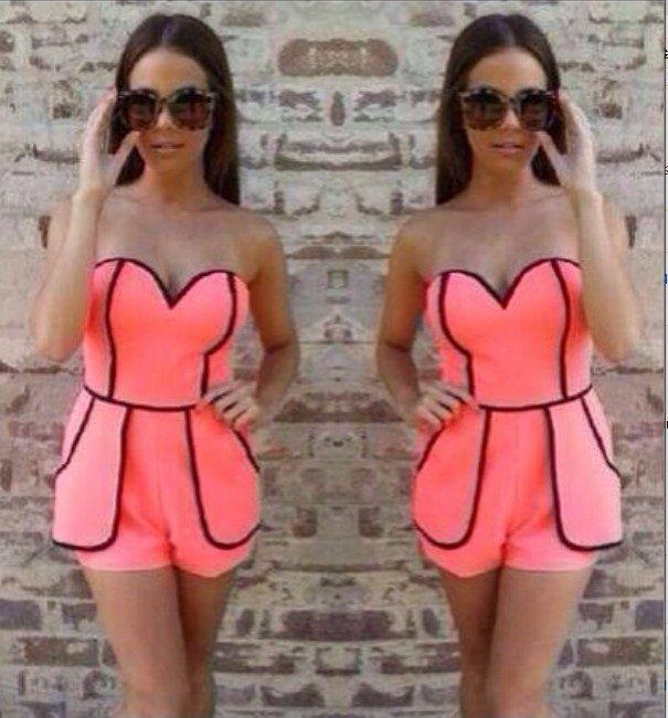 Low Cut Pink Dresses
