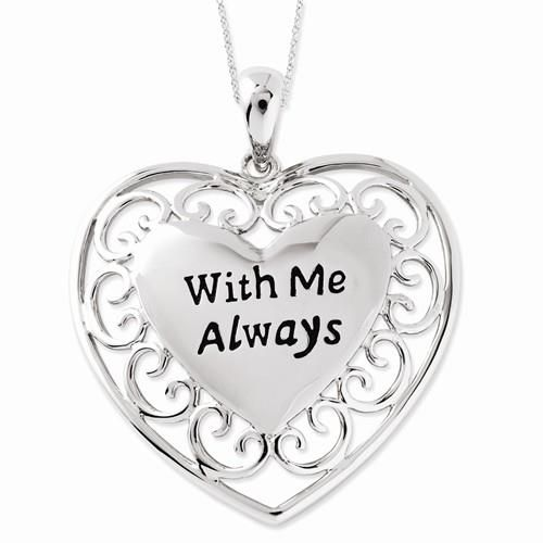 Daughter 925 Sterling Silver A Part of My Heart Heart Pendant Necklace 18 by Sentimental Expressions