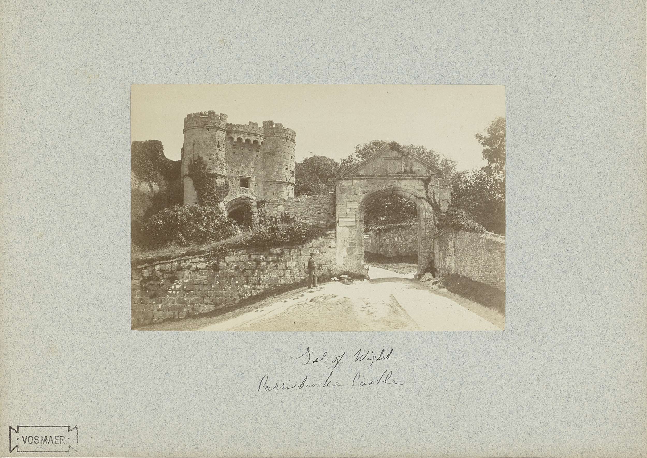Anonymous | Toegangspoort tot Carrisbrooke Castle op Isle of Wight, Anonymous, 1870 - 1890 |