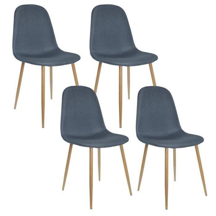 Lot De 4 Chaises Design Scandinave Tendance Nordique Piétement