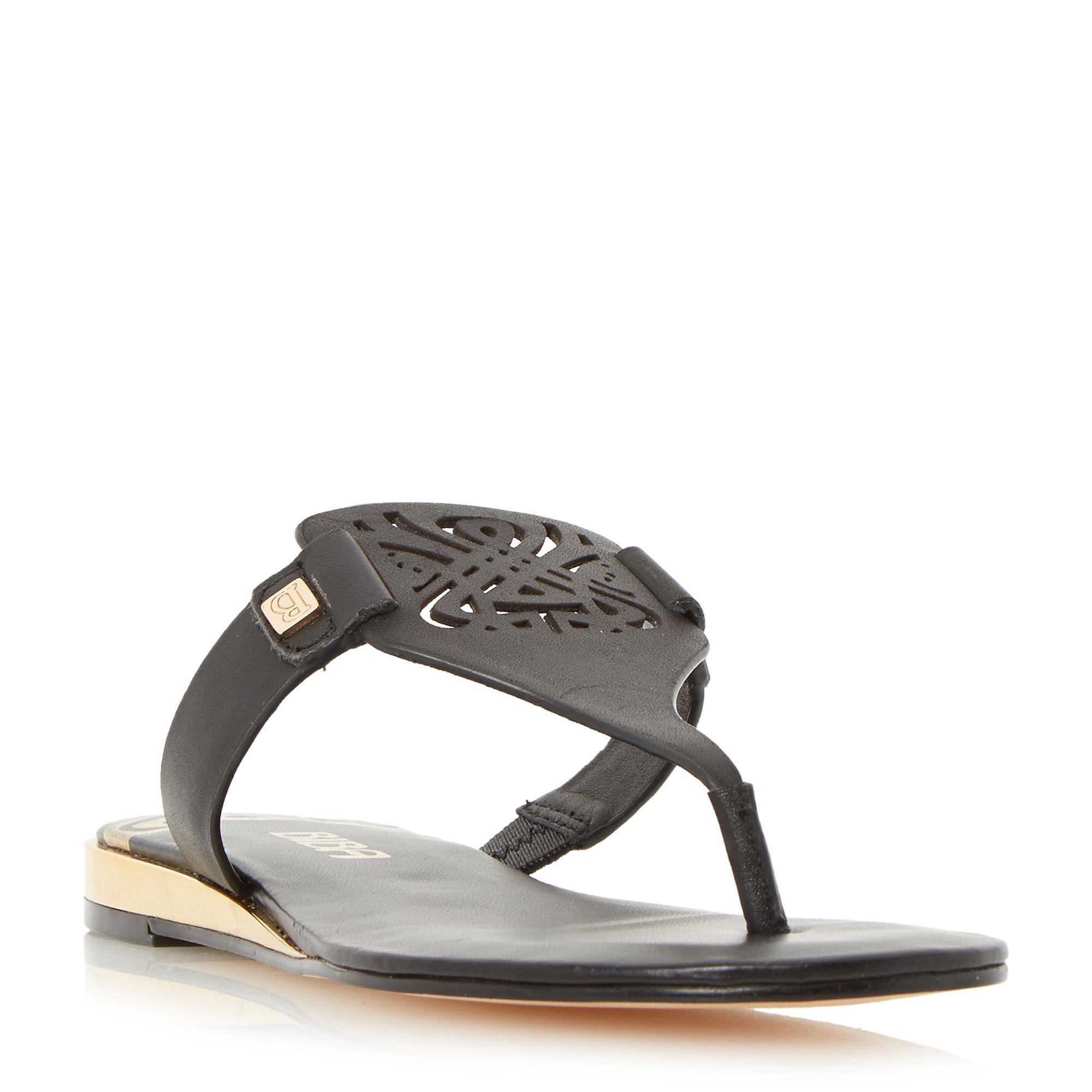9c356fb416 Biba Louela toe post sandals, Black | Ladies Shoes | Sandals, Black ...