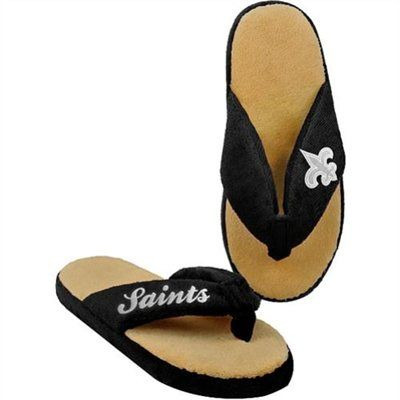 19ab6b11 New Orleans Saints Women's Thong Slippers. I need these for around ...
