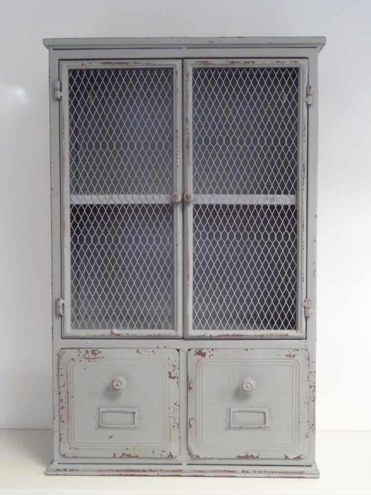 Armoire en fer de style meuble de métier industriel commode ...