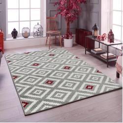 Photo of Carpet Pershore in black / gray / redWayfair.de