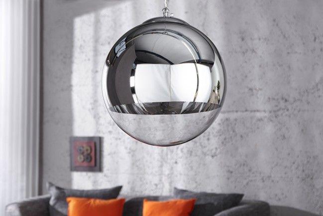 Edle Design Hängelampe GLOBE 30cm Glas chrom Kugelleuchte | 79,95€