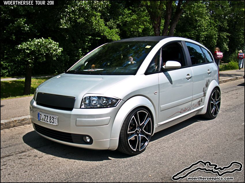 silver audi a2 on oz wheels audi audi audi a2 e. Black Bedroom Furniture Sets. Home Design Ideas