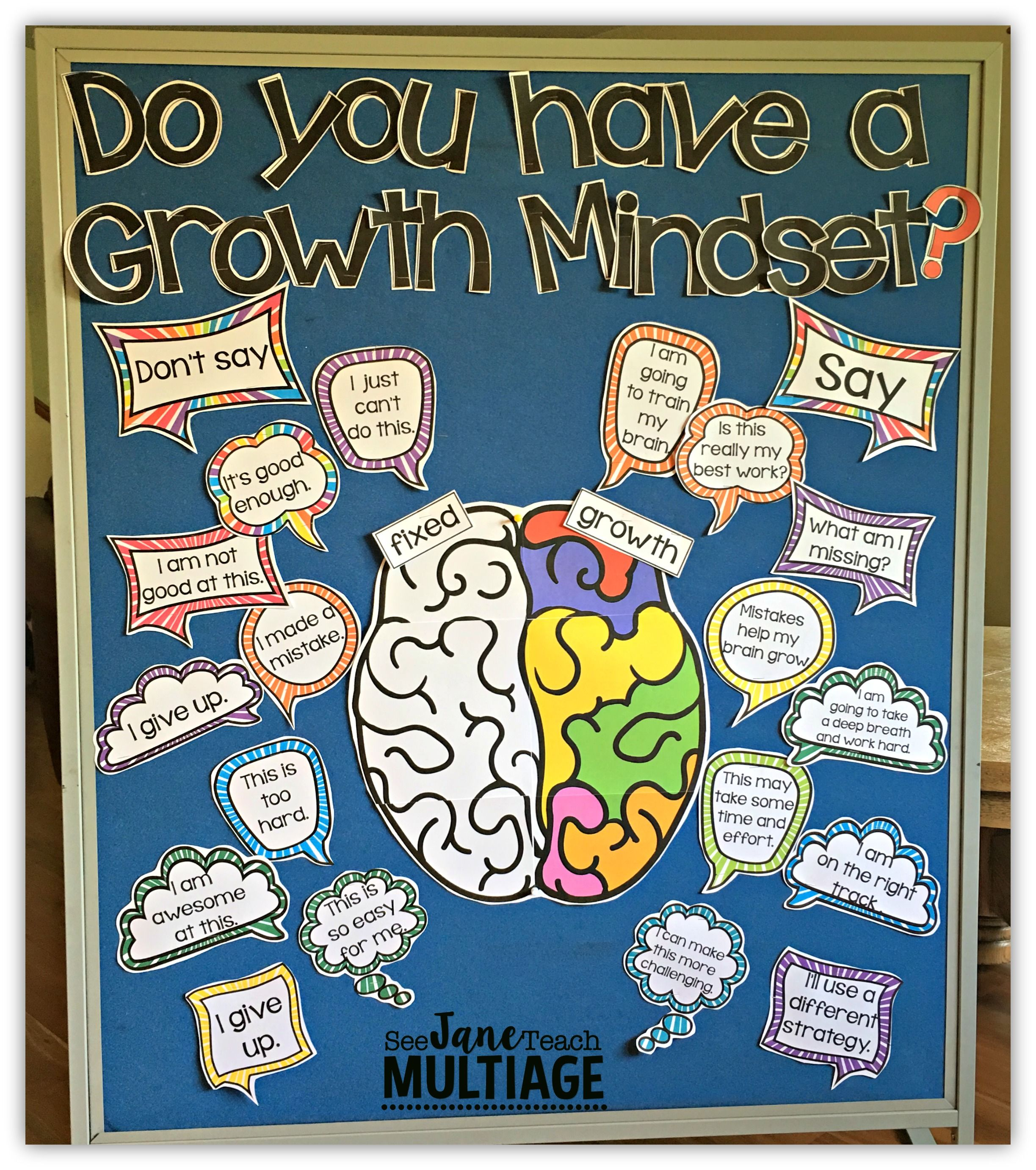 Growth Mindset Bulletin Board Set Everything In This Picture Included More