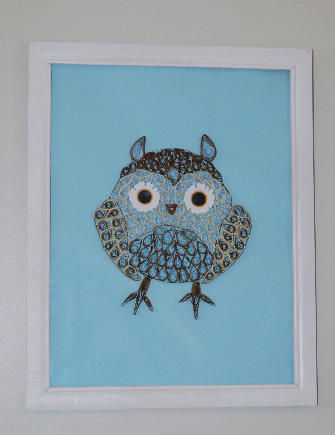 Quilled Owl Wall Decor  Child's Room Wall Decoration via Etsy.