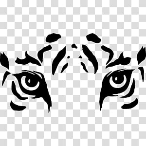 Tiger S Eye Drawing White Tiger Silhouette Wall Decal Transparent Background Png Clipart Tiger Silhouette Tiger Art Lion Painting
