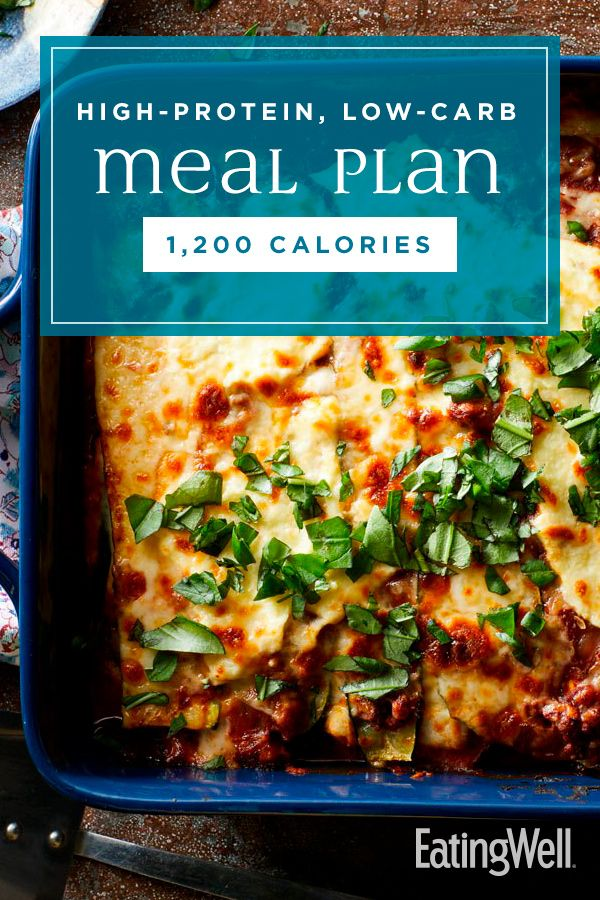 High-Protein, Low-Carb Meal Plan: 1,200 Calories