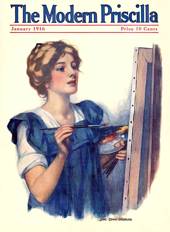 Modern Priscilla Young Woman in Sailor Dress June 1916 ZP