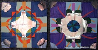 Color, collage, and much more: Recycled Paper Quilt Squares