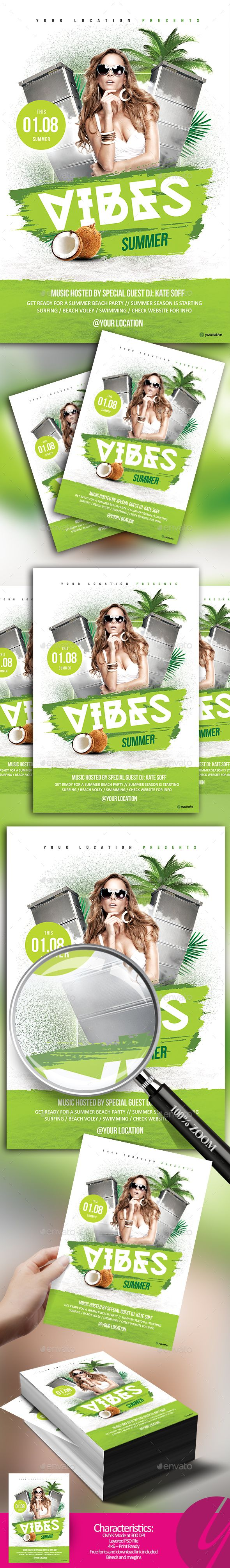 Pin by Cool Design on Summer Flyer Party flyer, Summer