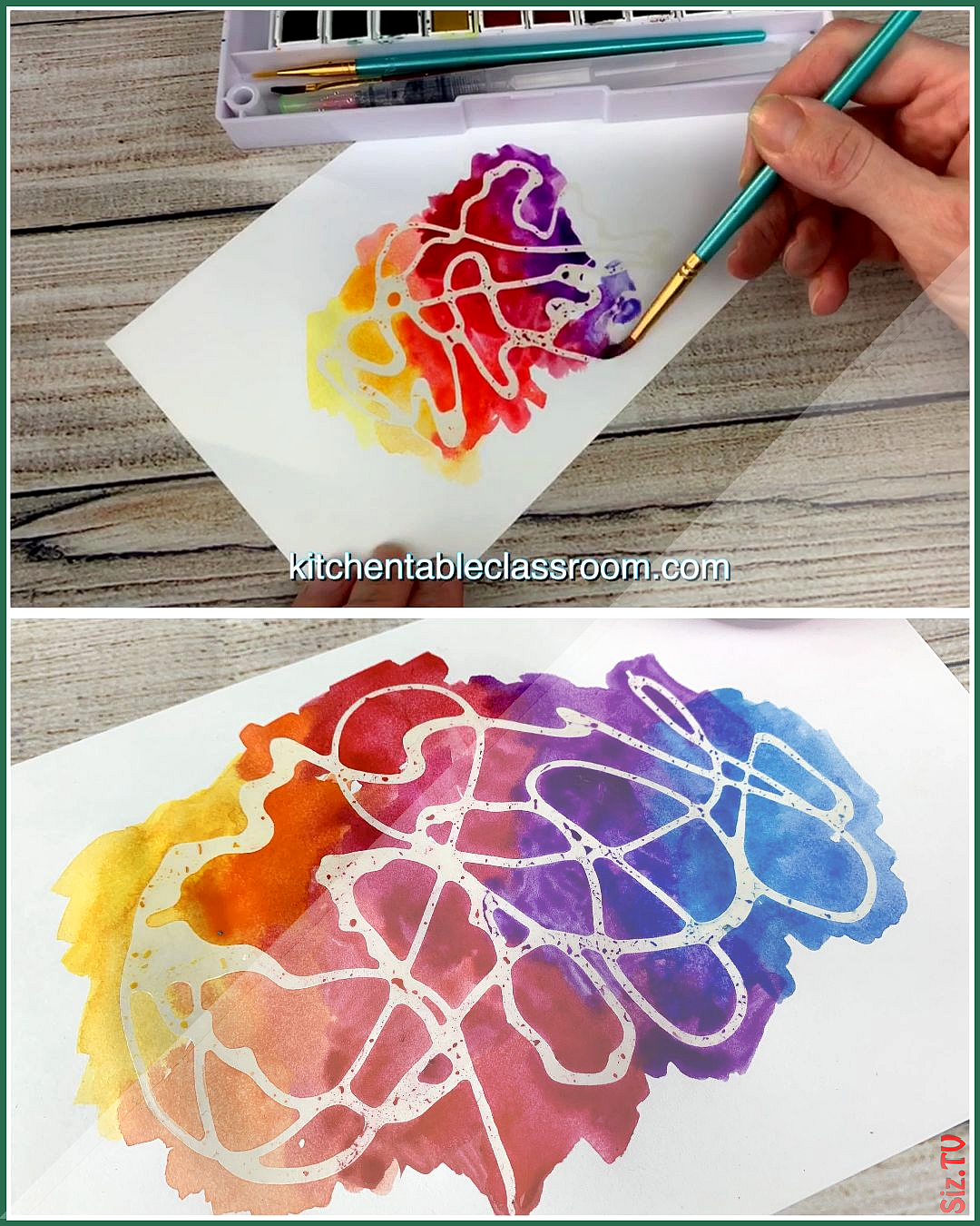 Watercolor for Kids- 9 Watercolor Techniques for Any Age  The Kitchen Table Classroom Watercolor fo