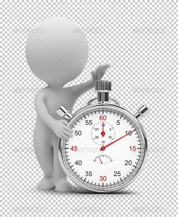3d small people - stopwatch #GraphicRiver 3d small people
