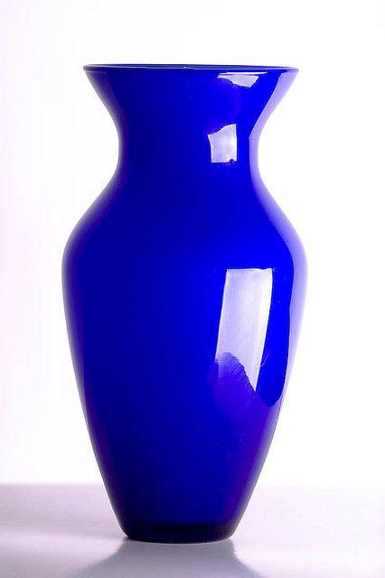 Blue Vase Blue Vase Cobalt Blue Vase Blue Glass