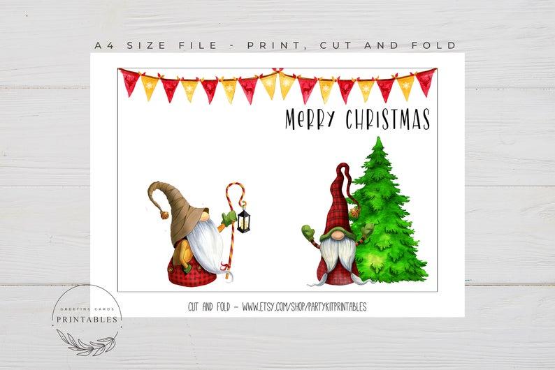 Printable Merry Christmas Card Digital Download Printable Etsy In 2020 Merry Christmas Card Merry Etsy Printables