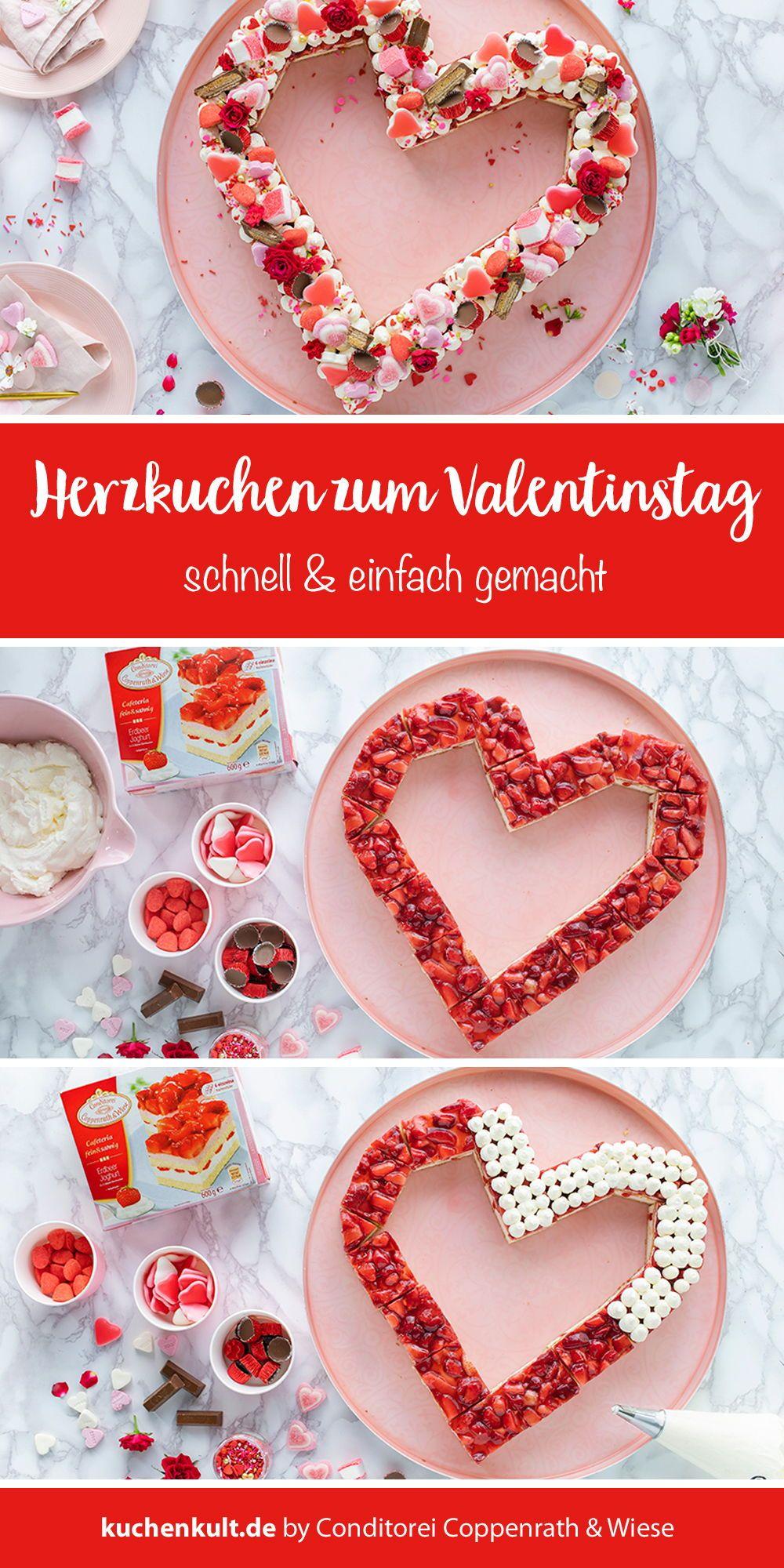Zum Valentinstag Lettercake Als Herzkuchen Susses Zum