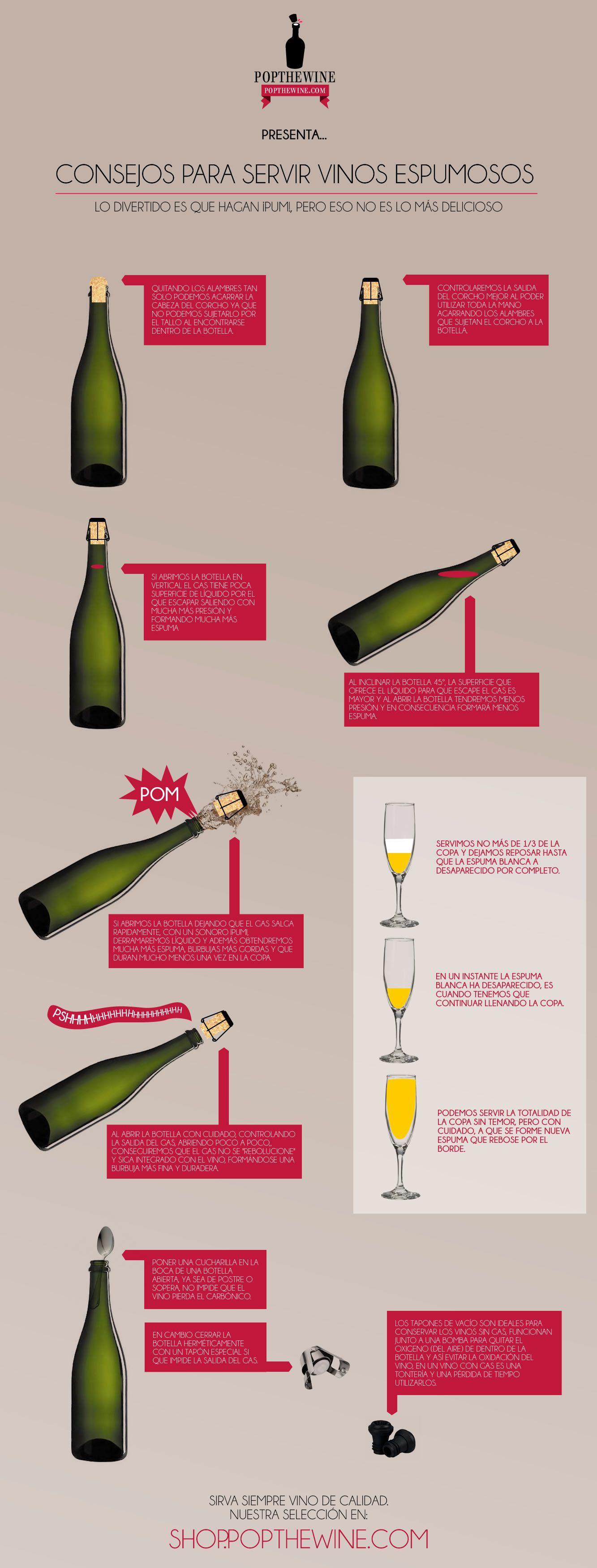 Cuatro consejos para servir correctamente el vino espumoso