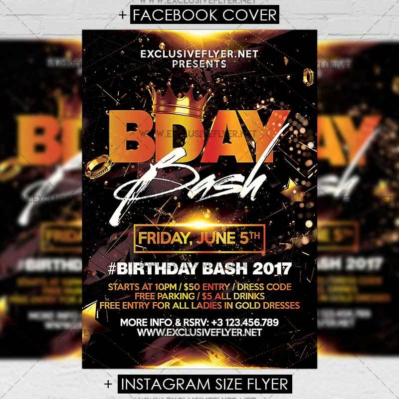 Birthday Bash - Premium A5 Flyer Template https\/\/www - birthday flyer template