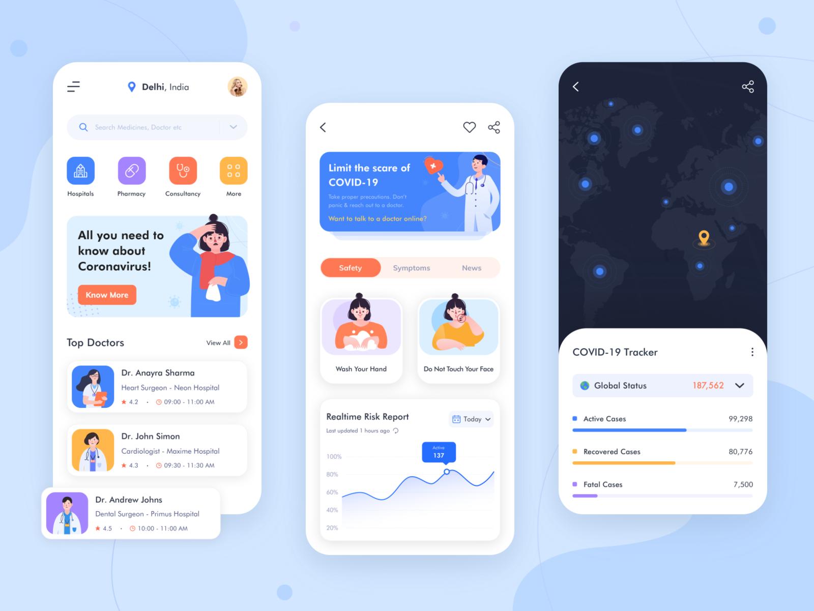 GO CORONA Medical App Concept in 2020 Medical app, App