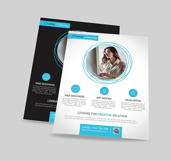 Modern WebApp Design Agency FlyerPoster On Behance  Flyer