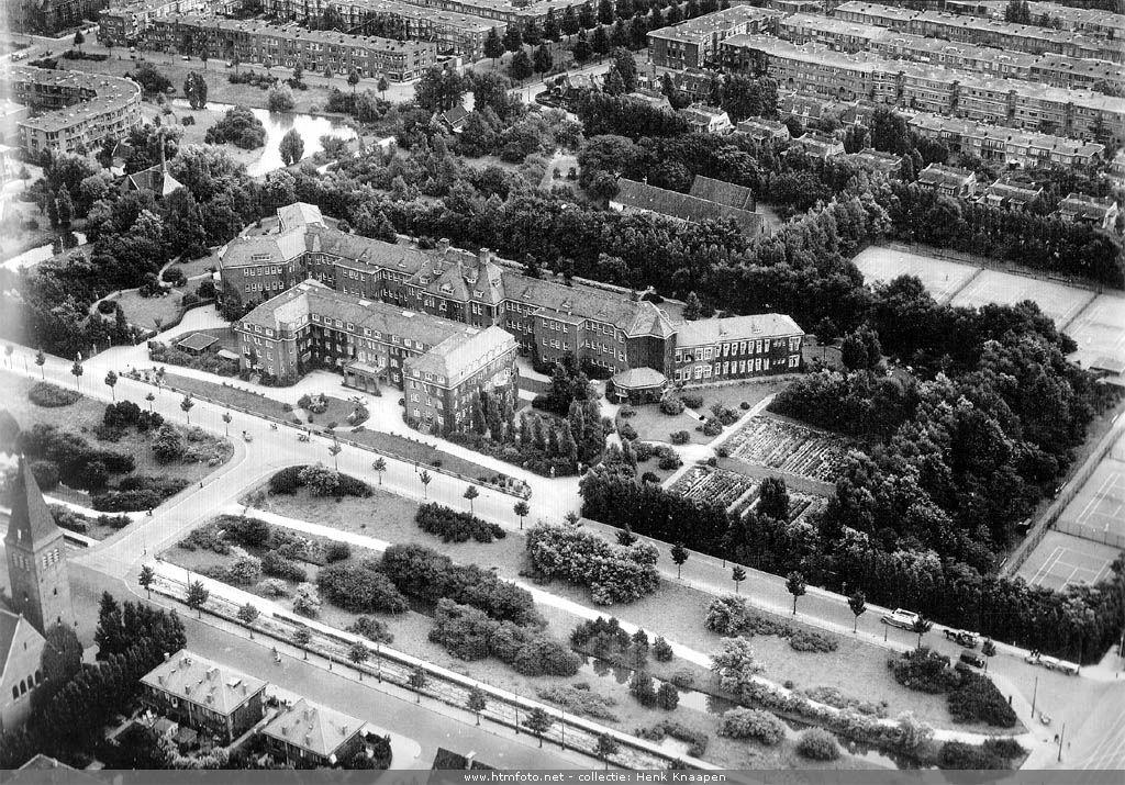 luchtfoto rode kruis ziekenhuis 1937 | geschiedenis den haag - the