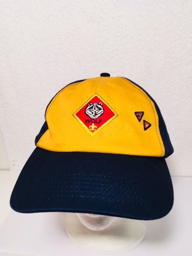 Cub Scout Wolf Hat Blue Yellow Cap BSA Youth Hat e9cf60994669
