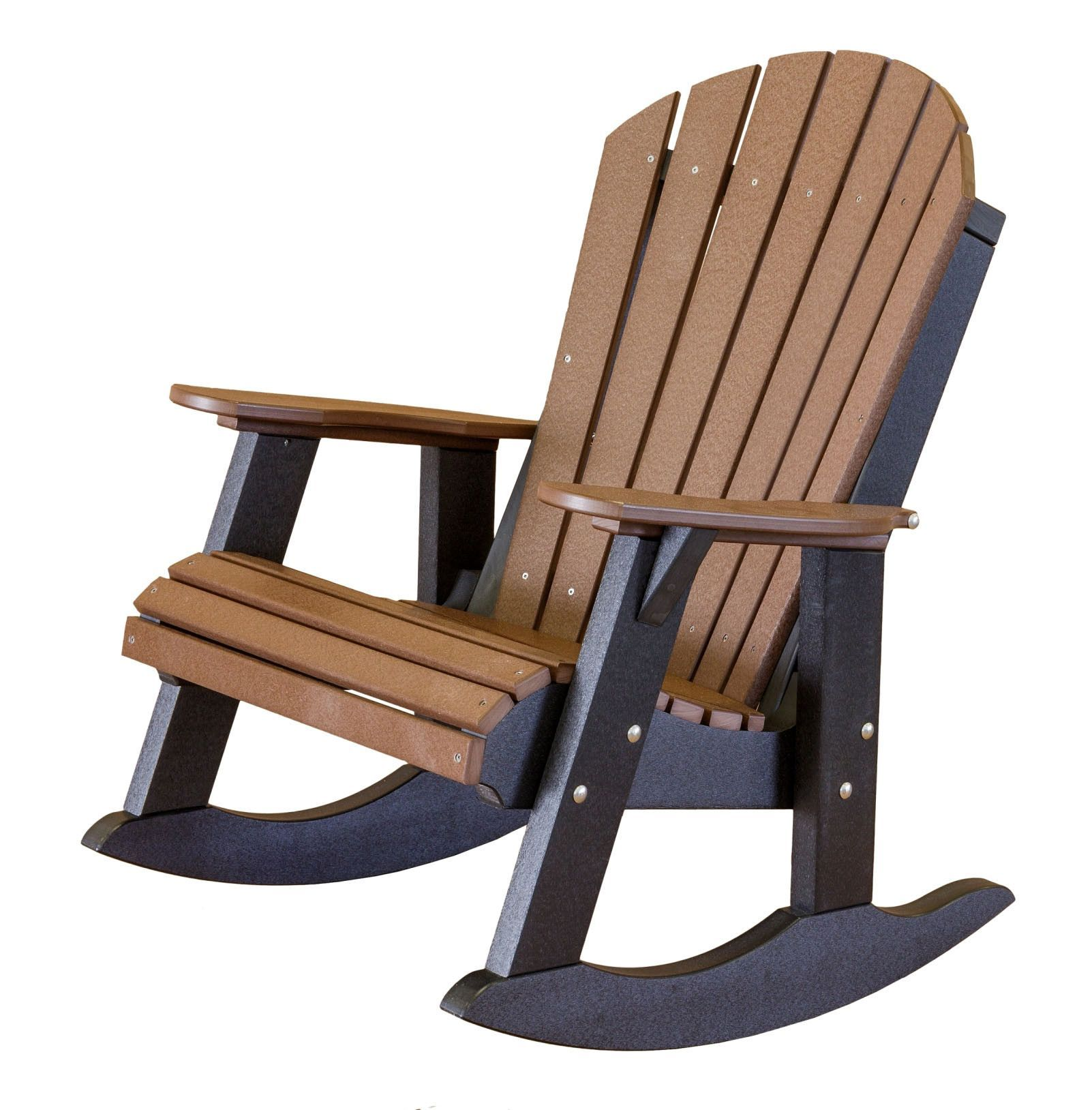 heritage fan back poly lumber rocking chair by little cottage