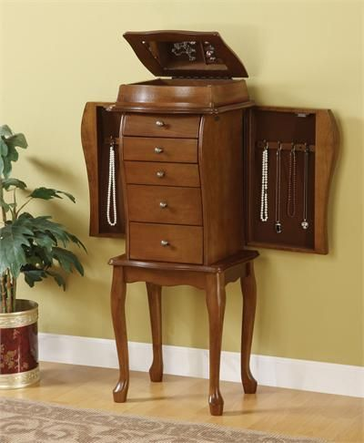 15+ Antique jewelry armoire with mirror viral