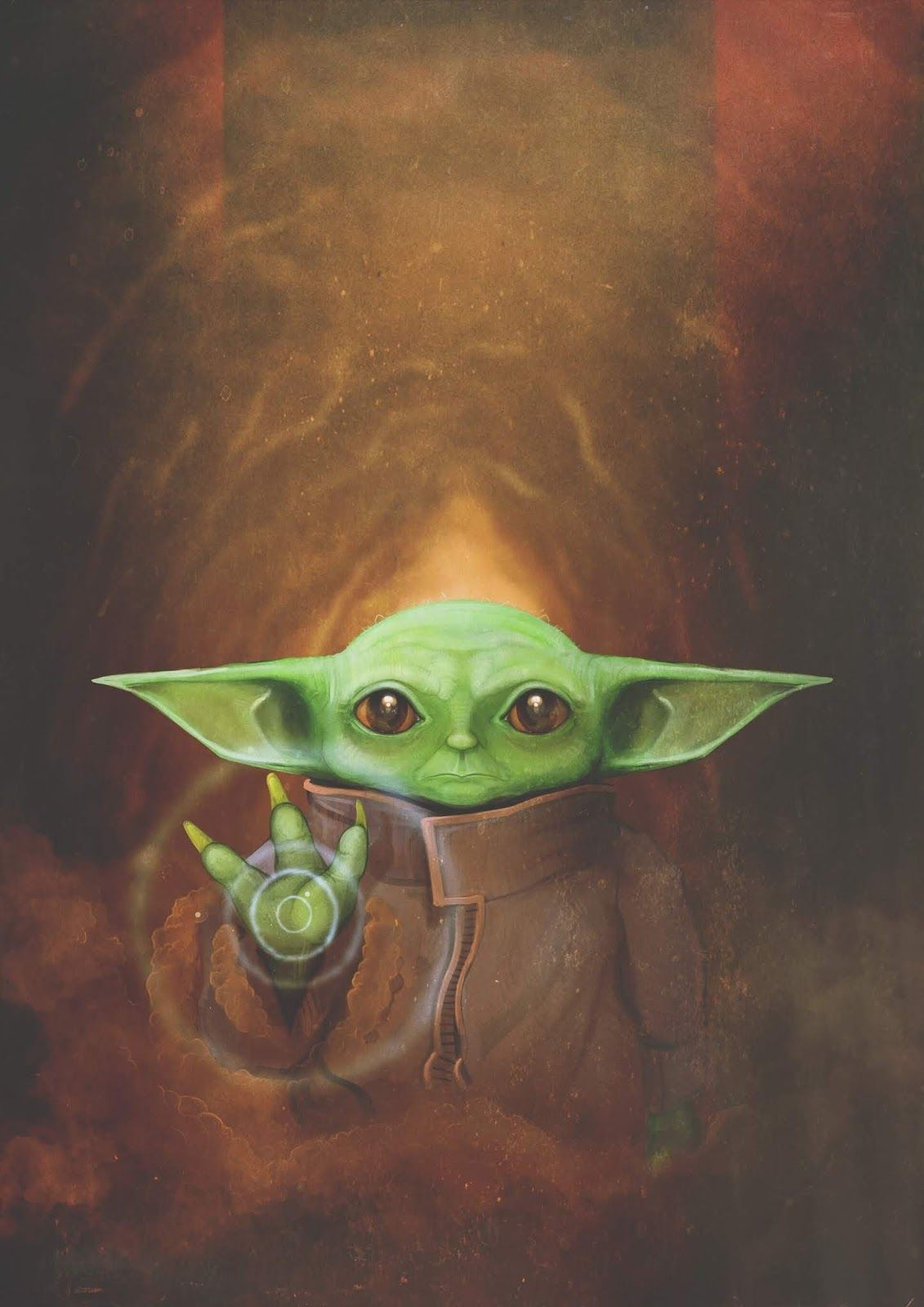 Green Yoda Illustration Painting Art Visual Arts Yoda Wallpaper Yoda Art Yoda Drawing