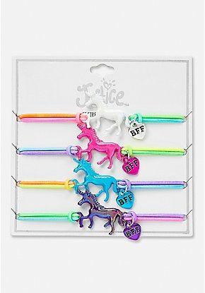 Unicorn Bff Stretch Bracelet 4 Pack Unicorns In