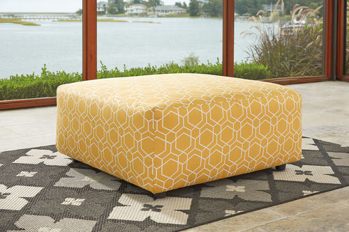 Ayanna Nuvella Gold Oversized Accent Ottoman Accent