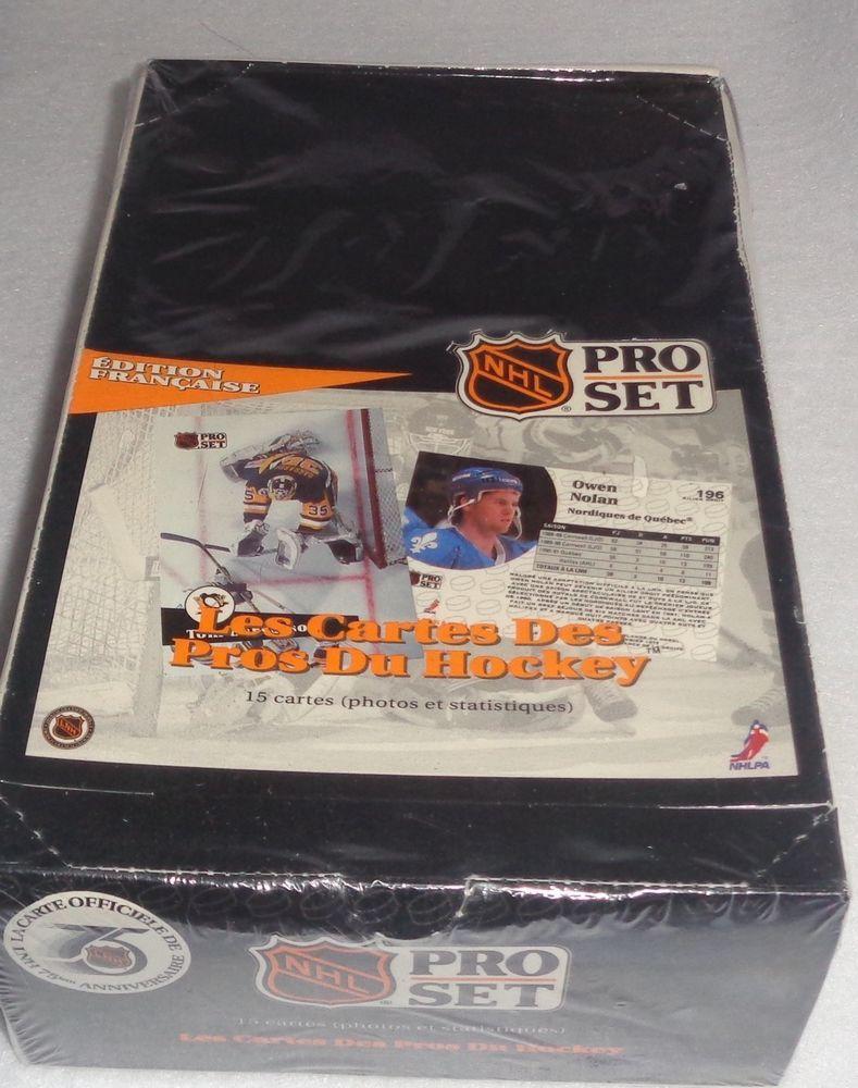 199192 pro set canadian edition hockey french box 36p