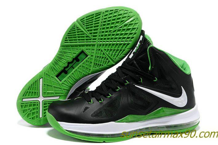 low priced 61f79 5bd7d Volt Green Lebron 10 Dunkman Black Green 541100 300