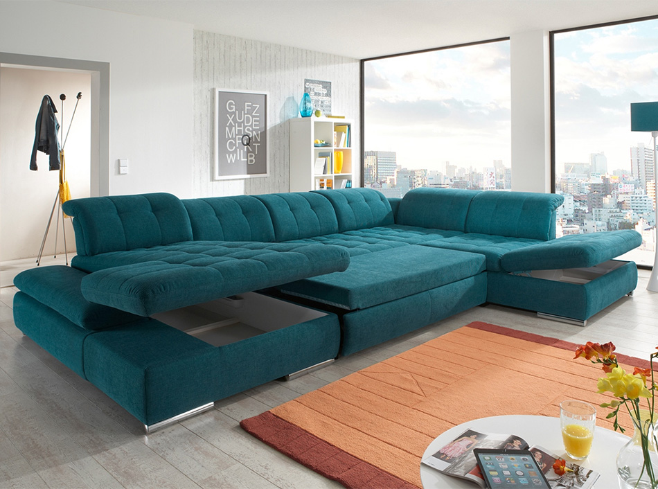 Sectional U Shape Sofa Sleeper Alpine By Nordholtz U Shaped