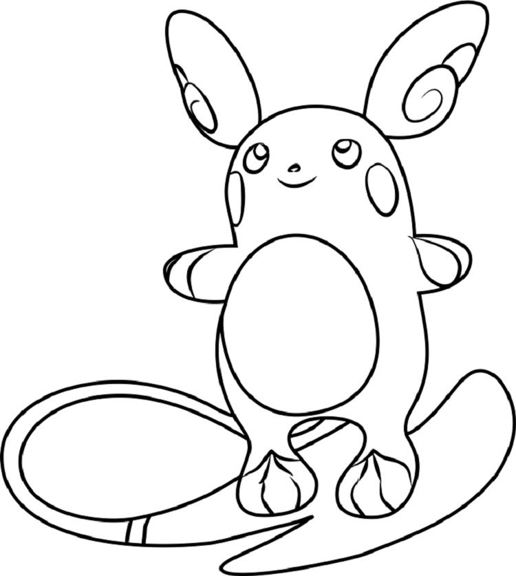 Pokemon Coloring Pages Raichu Moon Coloring Pages Pokemon